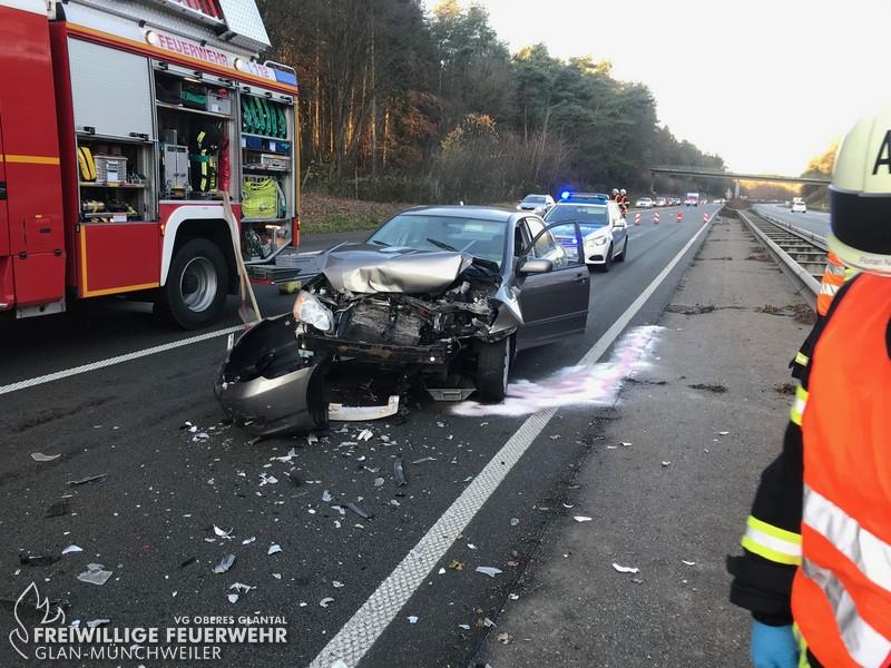 Verkehrsunfall, BAB 62
